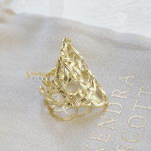 Kendra Scott Natalie Statement Ring In Gold